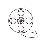 Isolated cinema film reel design. Cinema film reel icon. Movie video media and entertainment theme. Isolated design. Vector illustration Stock Photo