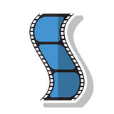 Isolated cinema film strip design. Cinema film strip icon. Movie video media and entertainment theme. Isolated design. Vector illustration Stock Images