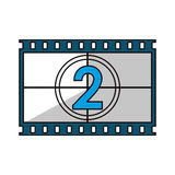 Isolated cinema film strip design. Cinema film strip icon. Movie video media and entertainment theme. Isolated design. Vector illustration Royalty Free Stock Image