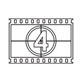 Isolated cinema film strip design. Cinema film strip icon. Movie video media and entertainment theme. Isolated design. Vector illustration Royalty Free Stock Photo