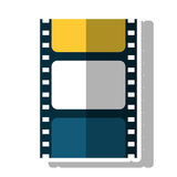 Isolated cinema film strip design. Cinema film strip icon. Movie video media and entertainment theme. Isolated design. Vector illustration Royalty Free Stock Photography