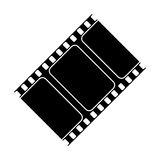Isolated cinema film strip design. Cinema film strip icon. Movie video media and entertainment theme. Isolated design. Vector illustration Stock Photos