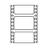 Isolated cinema film strip design. Cinema film strip icon. Movie video media and entertainment theme. Isolated design. Vector illustration Royalty Free Stock Images