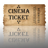 Isolated cinema ticket Stock Image