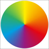 Isolated circular rainbow gradient Stock Photography