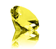 Isolated Citrine Jewel Royalty Free Stock Photos