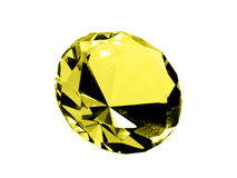 Isolated Citrine Jewel Stock Image