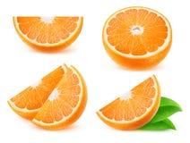 Isolated orange slices Royalty Free Stock Photography