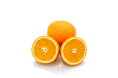 Isolated of citrus tangerine orange on the white background Stock Photo