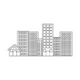 Isolated city buildings. Ctiy building icon. Architecture urban modern and metropolis theme. Isolated design. Vector illustration Stock Images