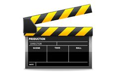 Isolated  clapboard Stock Image