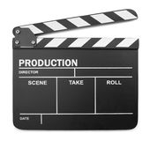 Isolated clapperboard Royalty Free Stock Image