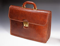 Isolated classic business bag Royalty Free Stock Photography
