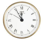 Isolated classic clock Royalty Free Stock Image