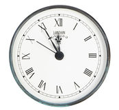 Isolated classic clock Royalty Free Stock Photography