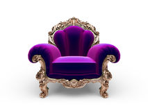 Isolated classic golden chair Royalty Free Stock Images