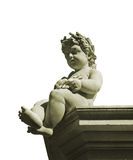 Isolated Classic Style Boy Sculpture Royalty Free Stock Photography