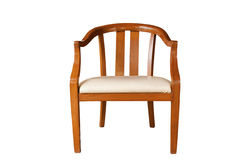 Isolated Classic  Wood Armchair Royalty Free Stock Photos
