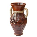 Isolated clay vase Royalty Free Stock Photos