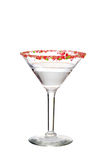 Isolated clear candy cane martini Stock Image