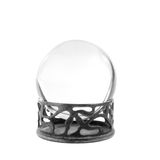 Isolated clear crystal ball on stand Royalty Free Stock Photo