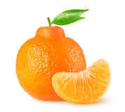 Isolated clementine citrus fruit Stock Photos