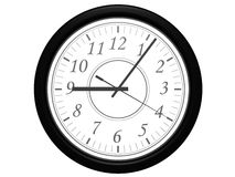 Isolated clock 01. Rendered isolated clock royalty free illustration