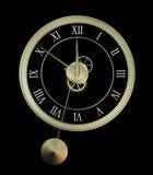 Isolated clock. Clock isolated on black background. Illustration Stock Images