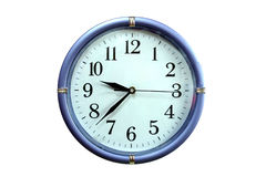 Isolated on the clock. White background isolated on the clock Stock Images