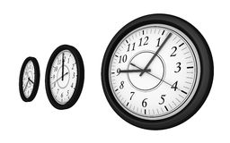 Isolated clocks 04. Rendered isolated clocks stock illustration