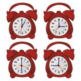 Isolated clocks Royalty Free Stock Photos