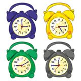 Isolated clocks Royalty Free Stock Image
