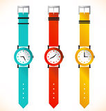 Isolated clocks  Wrist-watch Stock Photos