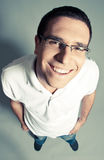 Isolated close-up of a cheerful young man Royalty Free Stock Photography