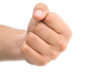 Isolated close up of man's fist Stock Photography