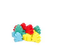 Isolated close up meeple board game stock image