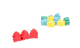 Isolated close up meeple board game Stock Photography