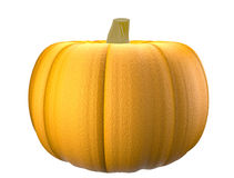 Isolated close - up of a realistic pumpkin Royalty Free Stock Image