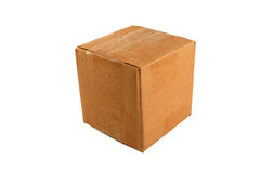 Isolated closed cardboard box Stock Photography