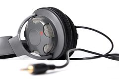 Isolated closed dj headphones Stock Images