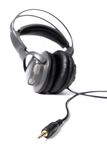 Isolated closed dj headphones Stock Image