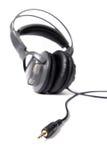 Isolated closed dj headphones Stock Image