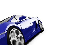 Isolated closeup sportcar view Stock Photo