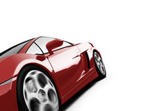 Isolated closeup sportcar view Royalty Free Stock Images