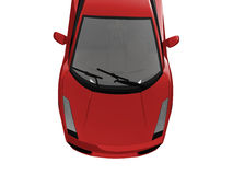 Isolated closeup sportcar view Royalty Free Stock Photos