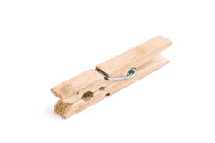 Isolated Clothespin Royalty Free Stock Images
