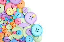 Isolated clothing buttons Stock Photography