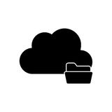 Isolated cloud computing design. Cloud with file icon. Cloud computing storage technology and virtual theme. Isolated design. Vector illustration Stock Photos