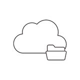 Isolated cloud computing design. Cloud with file icon. Cloud computing storage technology and virtual theme. Isolated design. Vector illustration Royalty Free Stock Photography