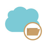 Isolated cloud computing design. File and cloud computing icon. Storage technology and virtual theme. Isolated design. Vector illustration Royalty Free Stock Photography